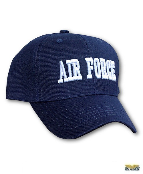 Air Force Cap with Raised Lettering